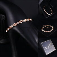Armband, Armschmuck, Bracelet *Bohne* Rosegold pl., Swarovski Elements, +Etui