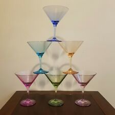 Williams-Sonoma Martini or Cosmo Glasses Duraclear Shatterproof - Set of 6
