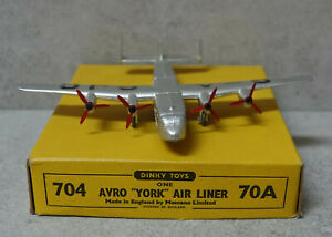 Dinky 70A/ 704 Avro York Air Liner Very Near Mint Boxed  in Original Box