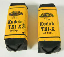 Lot of Two Rolls of Minox Kodak Tri-X 36 exposure Film