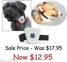 Anti Bark Dog Training Collar No Shock Pet Ultrasonic Control Barking Caravan AA