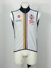 Castelli men's black and white zip front cycling vest gilet size XL