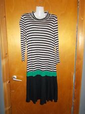 Killah Sixty 3/4Sleeved Striped Dress L UK14 Black Mix BNWT