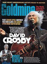 Goldmine magazine David Crosby Byrds of A Feather Carmine Appice Eric Carmen