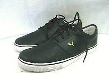 PUMA mens casual athletic shoes size 13 M leather upper black  great condition