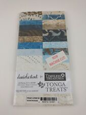 "Tonga Treats Jr Jelly Roll Timeless Treasures Boathouse Fabric 20 Strips 2.5"" X2"