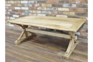 Rustic Elm Wood Coffee Table