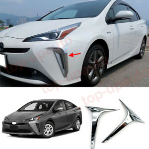 For Toyota Prius 2019-2022 ABS Chrome Front bumper Fog Light Lamp Cover trim 2PC