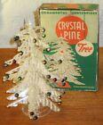 VINTAGE CRYSTAL PINE CHRISTMAS TREE ORNAMENTAL CENTERPIECE W BOX
