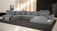 Leder Design Sofa Couch Polster Ecksofa Garnitur Wohnlandschaft Ecksofa XXL ECKE