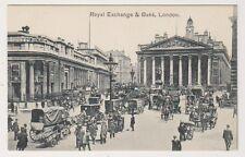 London postcard - Royal Exchange & Bank, London