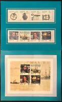 Australia #949-952a #963-966 MNH Stamp Folder CV$25.00 Navigators and Shipwrecks