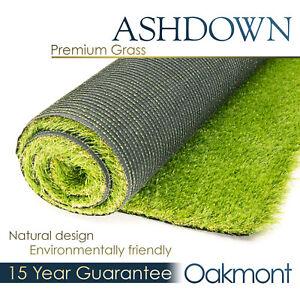 Ashdown Oakmont Premium Artificial Grass Realistic Astro Garden Turf Fake Lawn