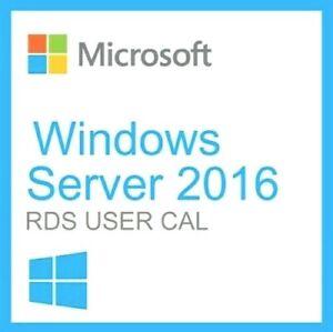 License Windows Server 2016 RDS 50 USER / DEVICE Remote Desktop Service CALs