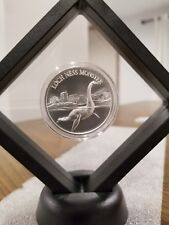 Loch Ness Monster 1 oz .999 Silver American Lake Folklore high relief Framed New