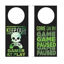 Gamer At Play Keep Out Come In Door Knob Hanger Funny Novelty