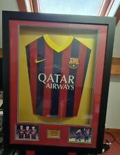 More details for certified barcelona shirt signed by messi neymar suarez