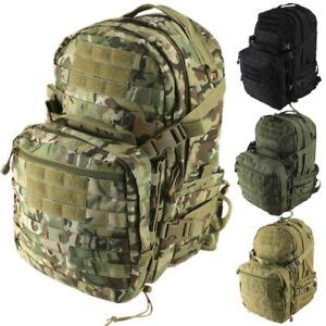 50 LITRE TACTICAL RUCKSACK ARMY PATROL PACK COMBAT MOLLE HELMET HAMMOCK BAG
