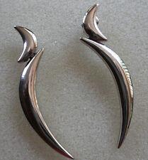 Pierre Lang Ohstecker silber RH Halbmondform Ohrringe sehr gut erhalten