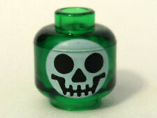 LEGO - Minifig, Head with Round Black on White Skull Pattern (Witch's Bottle)