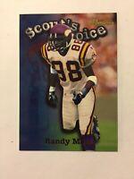 1998 Bowman Scout's Choice Minnesota Vikings Football Card #SC12 Randy Moss