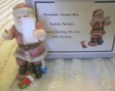 Phb Midwest Porcelain Hinged Box – Santa Checking His List - Mib