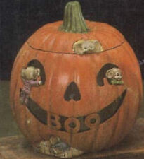"Ceramic Bisque  Ready to Paint ""BOO"" Pumpkin with Light Kit"