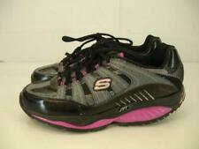 Womens 8 M SKECHERS Shape-Ups Kinetix Response Shoes Sneakers Black Pink Fitness