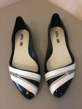 Melissa + Karl Lagerfeld Zipper Jelly Ballet Flat Shoes Size 6