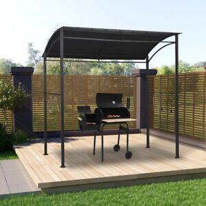 vidaXL BBQ Gazebo 215x150x220 cm Anthracite Steel Outdoor Patio Canopy Shelter