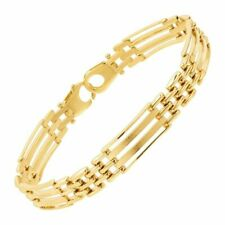 Eternity Gold Men's Panther Link Chain Bracelet in 10k Gold