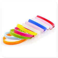 100pc Silicone Buckle fit DIY Wristband Bracelet slide charm letters Sz:220/8mm
