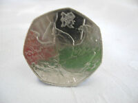 2011 London 2012 Olympic Games Canoeing 50p 50 Pence Coin