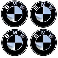 4 adhésifs sticker noir chrome BMW de 40 à 100 MM pour centre de jantes
