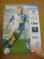 23/11/1993 Blackburn Rovers v Coventry City  . Thanks for viewing this item, buy