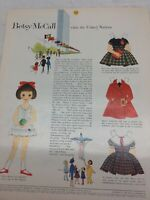 1959 VINTAGE BETSY MCCALL VISITS THE UNITED NATIONS PAPER DOLLS UNCUT UNUSED