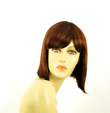 short wig for women brown copper wick light blonde and red ref: brenda 33h