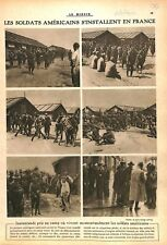 Camp US Army Sammies/Parade Place de la Concorde Invalides WWI 1917 ILLUSTRATION