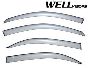 For 02-05 Hyundai Sonata WellVisors Side Window Visors Deflectors Rain Guard