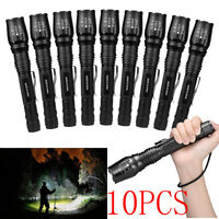 Lot Tactical 150000Lumen 5-mode T6 Zoomable 18650 LED Flashlight Torch Aluminum