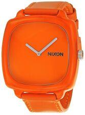Nixon Watch The Shutter Orange Leather Strap Orange Dial Quartz A167877