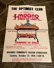VINTAGE 1976 NIGHT HORROR CHAMBER CHILLS SPOOK MAGIC SHOW POSTER FRANKENSTEIN @@