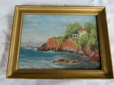 peinture sur panneau bord de mer