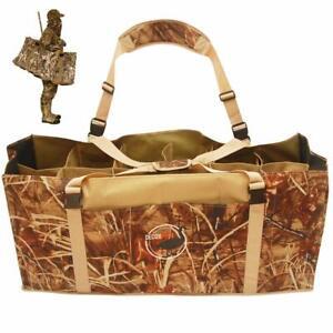 12 Slot Duck Decoy Bag Adjustable Shoulder Strap Water & Dirt Drain System New
