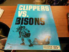 1964-5 AHL HOCKEY PROGRAM BALTIMORE CLIPPERS VERY RARE VS BUFFALO BISONS