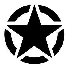adesivi sticker stella militare diametro 13 cm (x2) jeep