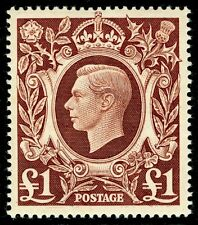SG478c, £1 brown, NH MINT. Cat £25.