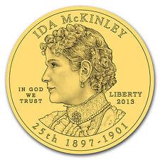 2013-W 1/2 oz Proof Gold Ida McKinley (w/Box & COA) - SKU #78926