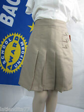 Girls School Uniform Pleated Skort by AWARD SCHOOL UNIFORM Khaki Size 18 NWT