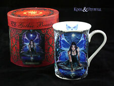 """Anne Stokes Bone China Mug Cup: """"Immortal Flight"""" Gothic Fairy with Skull Vision"""